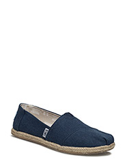 Navy Washed Canvas Rope S Alpargata - NAVY WASHED CANVAS ROPE S