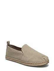 Desert Taupe Washed Canvas Deconstructed Alpargata - DESERT TAUPE WASHED CANVAS