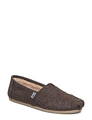 Speckled Tweed/Faux Shearling Alpargata - CHOCOLATE BROWN SPECKLED TWEED