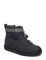 Black Synthetic Suede Alpine Seasonal New Youth - BLACK