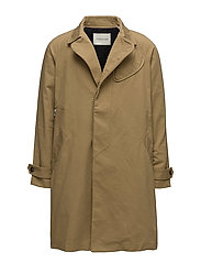 Trenchcoat with patch detail - SAND