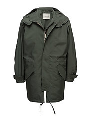 Oversize Anorak Puffer - GREEN OLIVE