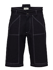 Shorts with contrast stitching - INDIGO