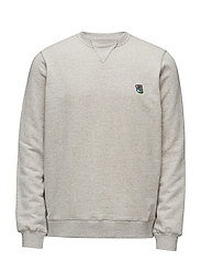 Crewneck with embroidered teddy logo - GREY MELANGE