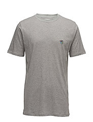 Tee with embroidered teddy logo - GREY