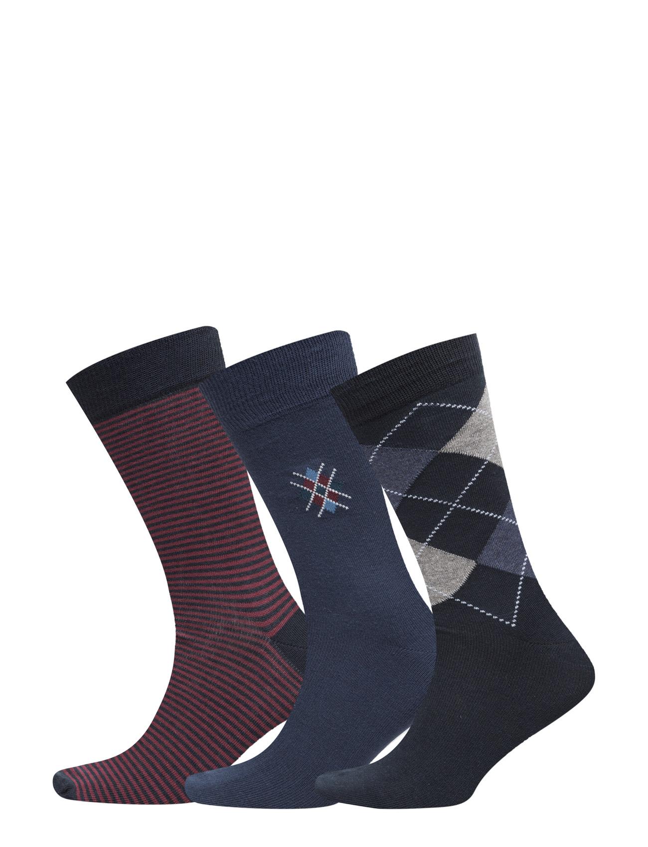 Men´S Socks 3-Pack, Antracite Melange 3 Pc/Pack TOPECO Undertøj til Mænd i antracit Melange