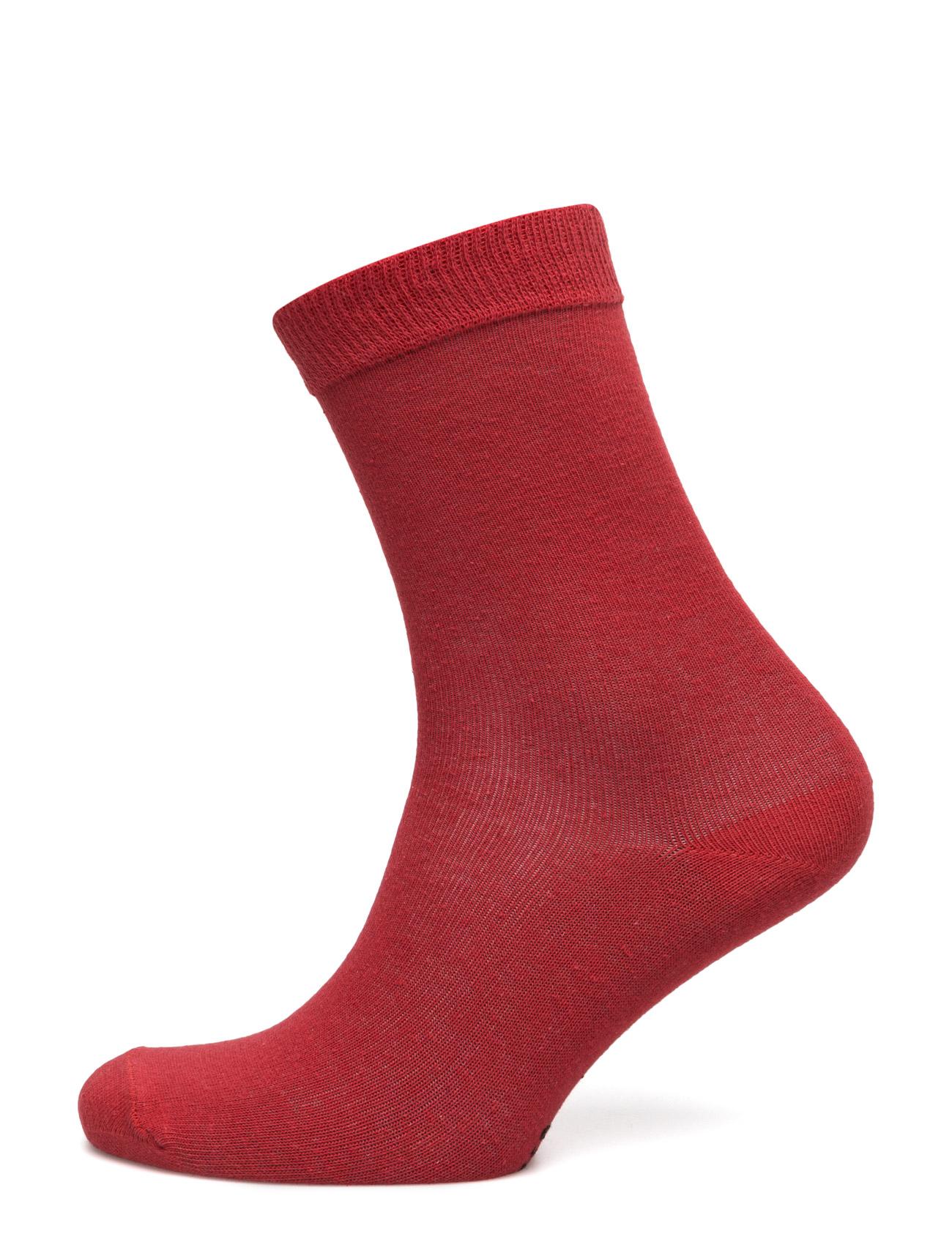 Ladies Sock Plain, Red TOPECO Strømpebukser til Kvinder i Rød