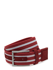 MENS BELT TEXTILE 40MM, RED - RED