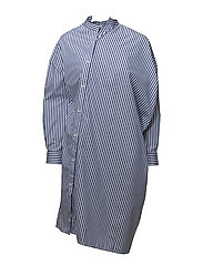 NOMA DRESS - AZURE BLUE STRIPE