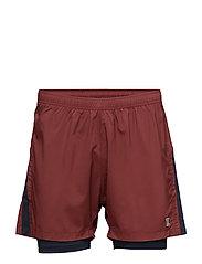 Run Short w./Inner Tight Men - CLAY RED