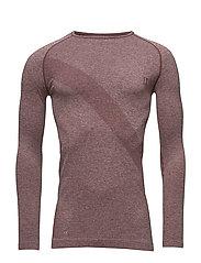 Men´s L/S T-shirt Thule - CLAY RED