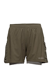 2-in-1 Shorts Bergen - MOSS GREEN/LIGHT GREY