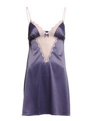 Satin Lace Chemise NDW - TWILIGHT BLUE