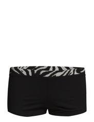 Beauty-Full Zebra Shorts - BLACK