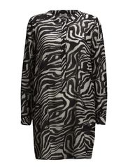 Beauty-Full Zebra Tunic - BLACK COMBINATION