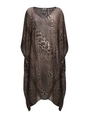 Safari Chic Kaftan - BROWN - DARK COMBINATION