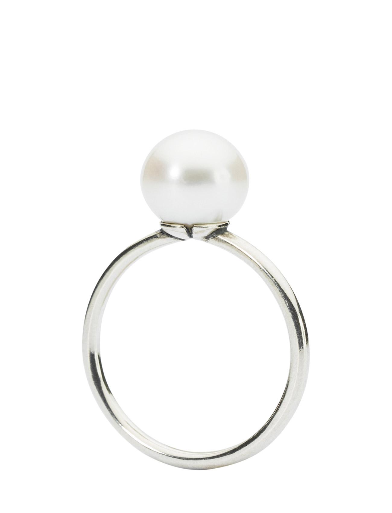 White Pearl Ring Trollbeads Smykker til Damer i