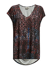 Melody Top - MULTI RED PRINT