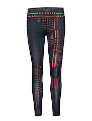 Be Running Tights - NAVY SQUARE PRINT