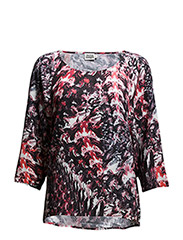 Avery Blouse - RED PAINT PRINT