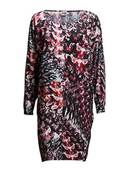 Riley Dress - RED PAINT PRINT