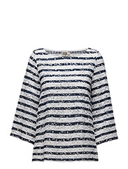 Adella Blouse - NAVY STRIPE