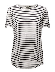 Iris O-neck Tee - OFF WHITE STRIPE