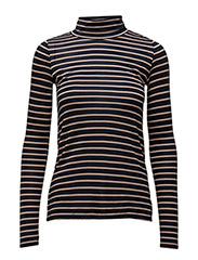 Iris Turtleneck - NAVY STRIPE