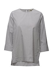 Bridget Blouse Whitetripe - WHITE STRIPE