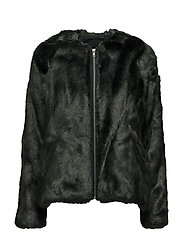 Viola Faux Fur Jacket - JACKET FOREST