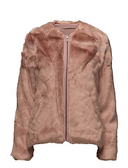 Viola Faux Fur Jacket - JACKET ROSE