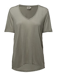 Iris V-neck Tee - DUSTY GREEN
