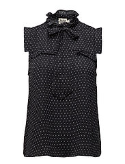 Adri Blouse - NAVY DOT