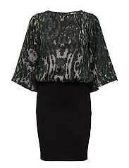 Bianca Dress - GREEN LEOPARD