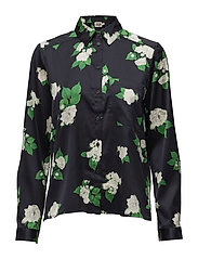 Wilma Shirt - NAVY ROSE