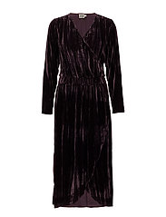 Lilja Velvet Dress - DEEP PURPLE