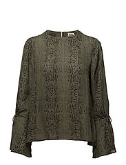Tracy Blouse - GREEN SNAKE