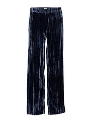 Meg Velvet Trousers - DARK BLUE
