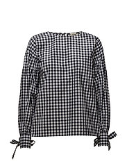 Stephanie Blouse - NAVY CHECK