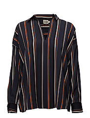 Nadine Blouse - MULTI STRIPE