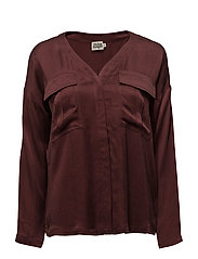 Savannah Blouse - MERLOT RED