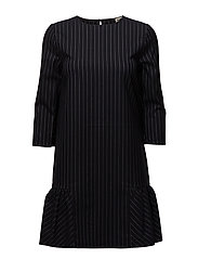 Malina Dress - NAVY PIN STRIPE