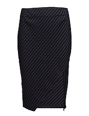 Whitney Skirt - NAVY PIN STRIPE