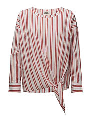 Veronica Blouse - RED STRIPE