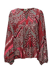 Callie Blouse - PINK GRAPHIC