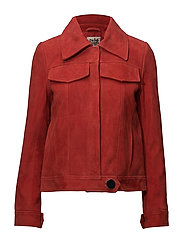 Veronica Suede Jacket - RASPBERRY RED