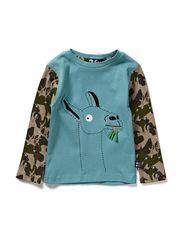 Baby Lama T-shirt - Jungle/ tropical blue