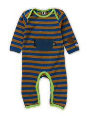 Baby Terry Suit - blue/bronze