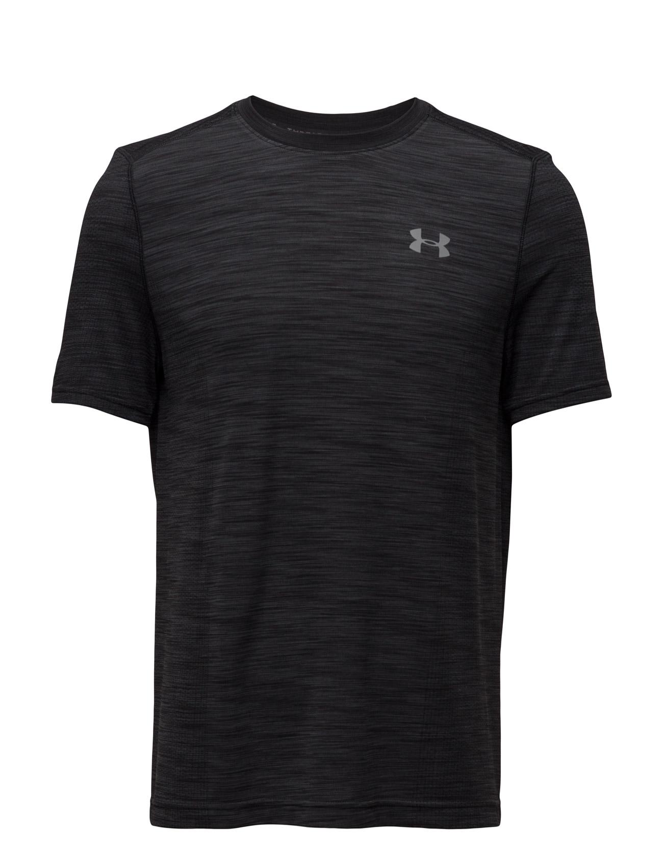 Ua Threadborne Seamless Ss Under Armour Løbe t-shirts til Herrer i Sort
