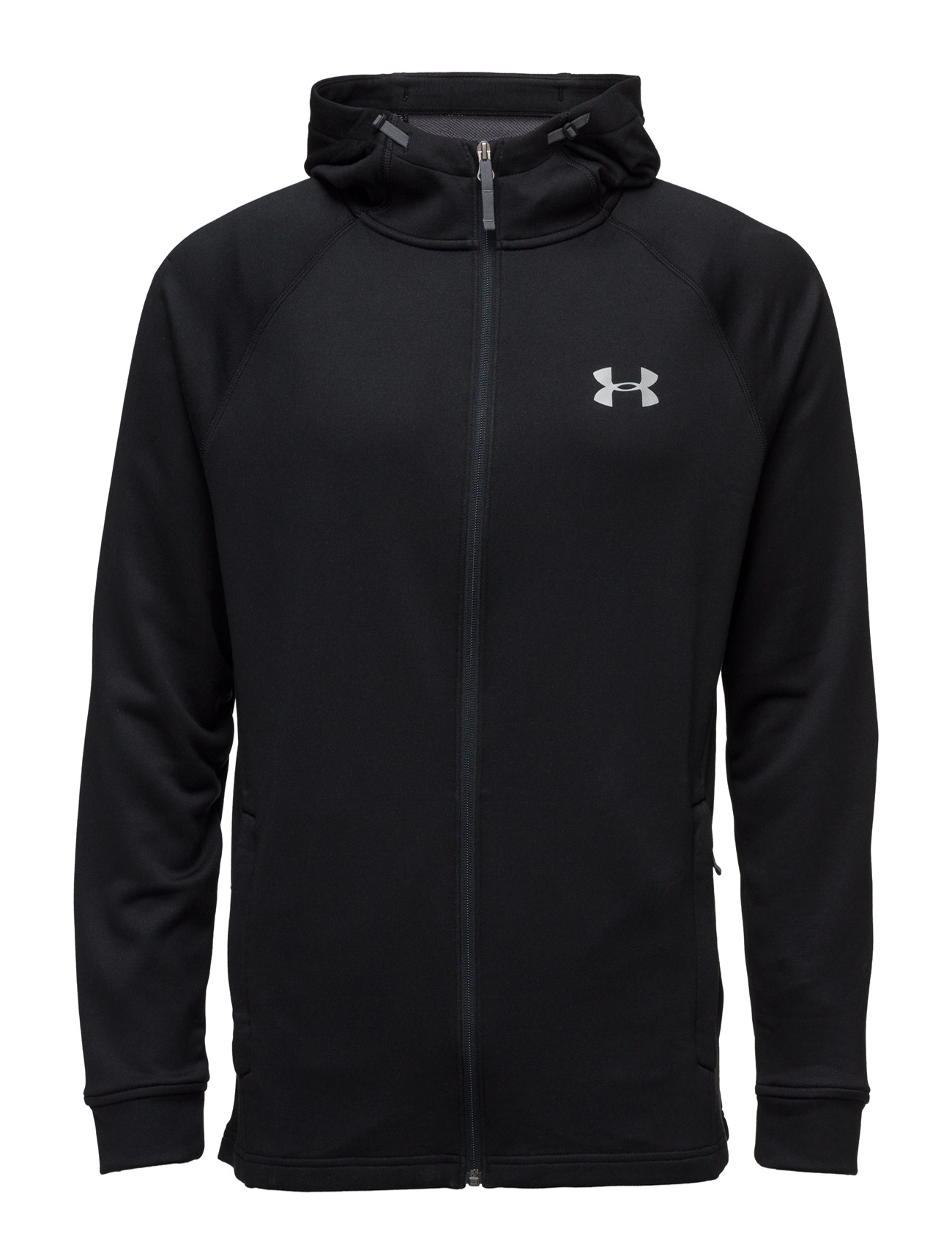 Tech Terry Fitted Fz Hoodie Under Armour Sports sweatshirts til Herrer i Sort